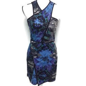 Parker Multicolor V Neck Dress